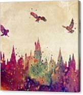 Hogwarts Castle Watercolor Art Print Canvas Print
