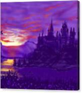 Hogwarts In Purple Canvas Print