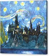 Harry Potter Starry Night Canvas Print