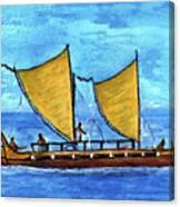 Hokulea Hawaiian Ocean Going Outrigger Canoe #49 Canvas Print