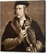 Holbein: Falconer, 1533 Canvas Print