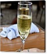 Holding Champagne Glass In Hand Canvas Print
