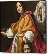 Holding The Head Of Holofernes Canvas Print