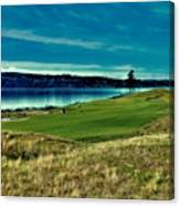 Hole #2 At Chambers Bay Canvas Print