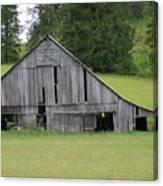 Holey Old Barn  Washington State Canvas Print