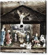 Holiday Christmas Manger Pa 01 Canvas Print