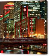 Holiday Colors Along Chicago River Canvas Print