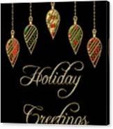 Holiday Greetings Merry Christmas Canvas Print