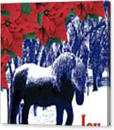 Holiday Joy Card Canvas Print