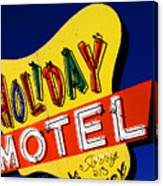 Holiday Motel Canvas Print