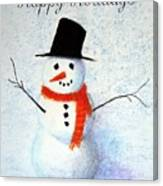 Holiday Snowman Canvas Print
