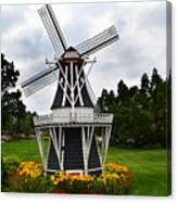 Holland Grey Windmill  Canvas Print