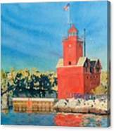 Holland Lighthouse - Big Red Canvas Print
