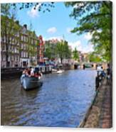 Hollanders On Canal - Color Canvas Print