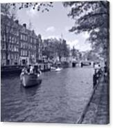 Hollanders On Canal  Canvas Print
