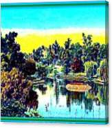 Hollenbeck Park Lake In Los Angeles, 1910 Canvas Print