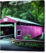 Hollingshead Coverd Bridge Canvas Print