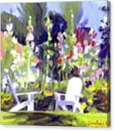 Holly Hocks Canvas Print