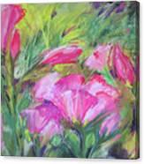 Hollyhock Breeze Canvas Print