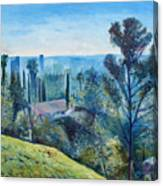 Hollywood Hills California Usa 1997  Canvas Print