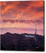Hollywood Sign At Sunset Canvas Print