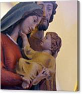 Holy Family Statue Canvas Print
