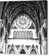 Holy Name Cathedral Chicago Bw 06 Canvas Print