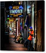 Holy Smoke Bourbon Street Canvas Print