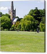 Holy Trinity Church At Stratford Upon Avon Canvas Print