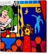 Homage To Lichtenstein And Matisse Canvas Print