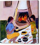 Home And Hearth In Taos Canvas Print