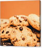 Home Baked Chocolate Biscuits Canvas Print