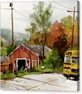 Home Bus Canvas Print