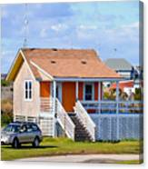 Home In Nags Head 3 Canvas Print