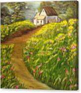 Home In Springtime Canvas Print