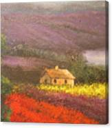 Home In The Hills Of Tuscany Canvas Print