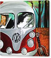 Home Is Where The Van Is Canvas Print