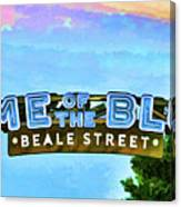 Home Of The Blues - Beale Street Canvas Print