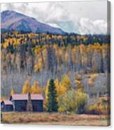 Home On The Gore Range Canvas Print