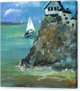 Home Overlooking The Sea Canvas Print
