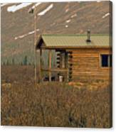 Home Sweet Fishing Home In Alaska Canvas Print