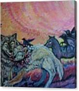 Homecoming Wolves And Ravens Canvas Print
