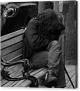 Homeless - Bw Canvas Print