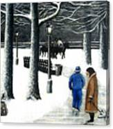 Homeless In Central Park Canvas Print