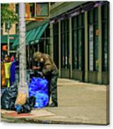 Homeless In Nyc Canvas Print
