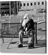 Homeless Man Canvas Print