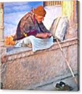 Homeless Man In India Canvas Print