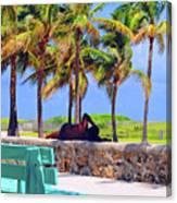 Home On The Beach Canvas Print
