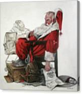 Homeless Santa Canvas Print