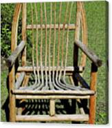 Homemade Lawn Chair Canvas Print